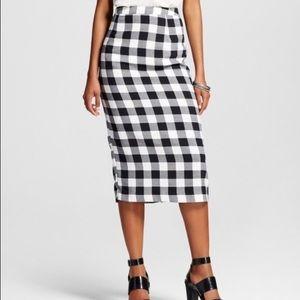 Who What Wear Hingham midi pencil skirt
